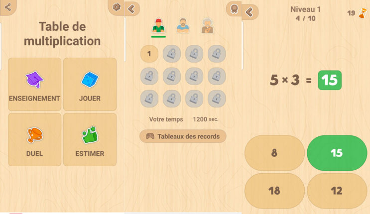 jeu de table de multiplication
